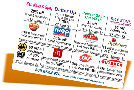 fundraising coupon cards Pennsylvania